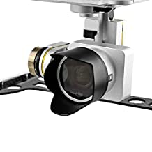 { Accessory Kit For DJI P3P P3A } DJI Phantom 3 Advanced Professional Quadcopter 4K UHD Video Camera Drone . Includes Gimbal Guard - Lens Hood Sunshade - Lens Cap Cover