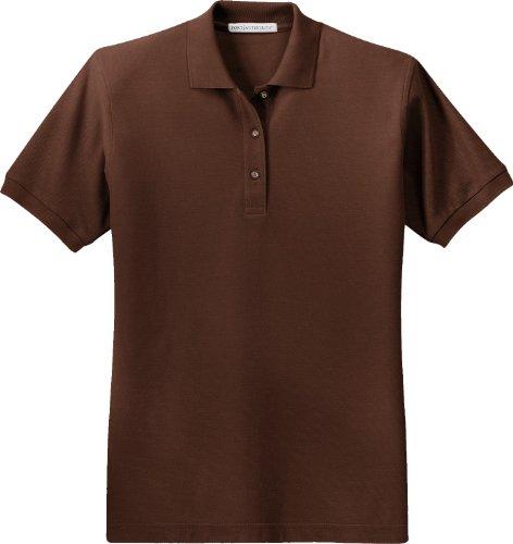 Port Authority Ladies Silk Touch Short-Sleeve Polo Shirt L500 Coffee Bean 3XL