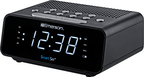 Emerson ER100101 SmartSet Alarm Clock Radio with AM/FM Ra...