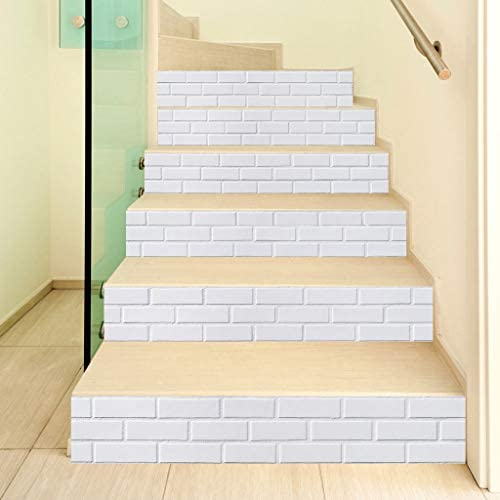 6pcs 3D Staircase Stair Riser Stickers Art Wall Decals Home Decor Self-Adhesive