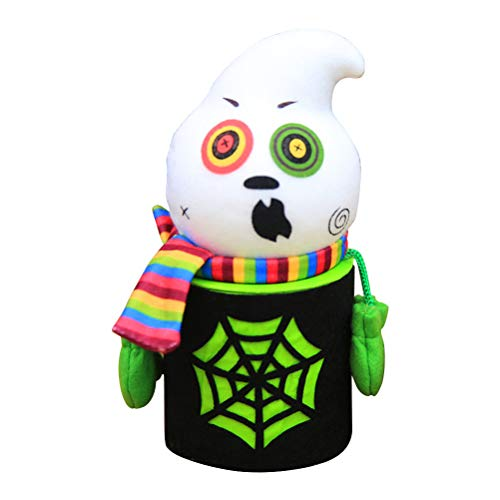 BESTOYARD Halloween Cute Cartoon Ghost Candy Jar Tin Treat Cookie Sweet Storage Container Holder Canister Bucket Bin Gift Box for Kids Halloween Home Party Bar Decoration Cosplay -