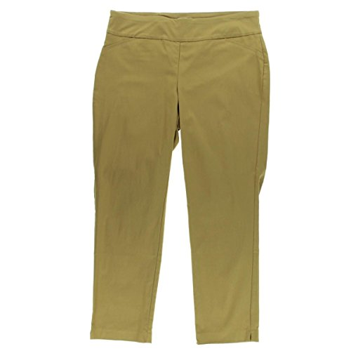 Charter Club Womens Plus Tummy Control Classic Fit Casual Pants Tan 24W