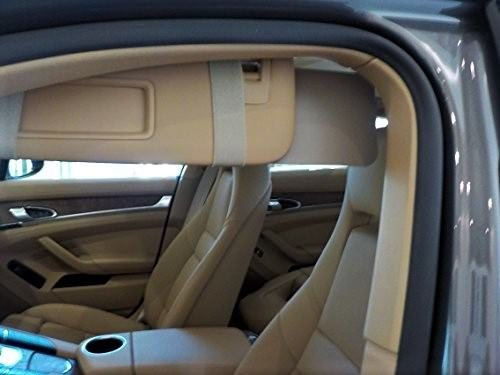 Visormates One Pair of Side Window Sun Visor Extenders (5x12 Tan with Tan - Sonata Hyundai Driver Car