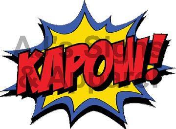 Lightweight Action Apparel - AJ's Signs & Apparel Hero Action Word KAPOW Vinyl Sticker Decal Cars Trucks Vans Walls Laptop