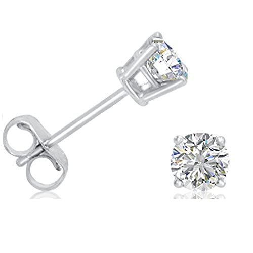 ebay diamond stud l studs earrings white gold carat
