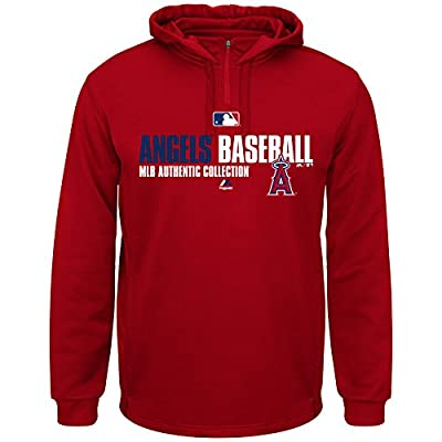 Los Angeles Angels of Anaheim MLB Men's Team Favorite ThermaBase Performance Hooded Fleece Red (Medium)
