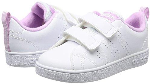 Adidas VS Advantage Clean CMF INF–Chaussures deportivaspara enfants, Blanc–(Ftwbla/Ftwbla/orqcla), -25