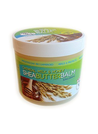 The Original CJ's BUTTer® All Natural Shea Butter Balm - Oatmeal, Milk & Honey, 12 oz. Tub
