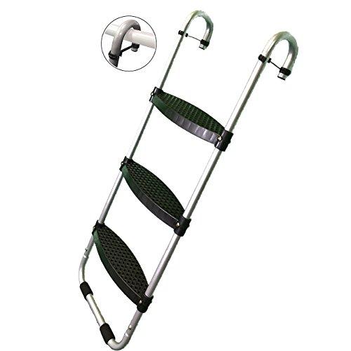 Wide 3-Step | Safety-Latch | No Slip | Trampoline Ladder by Trampoline Pro