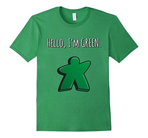 Men's Hello, I'm Green Meeple t-shirt Tabletop Day 2017 XL Grass