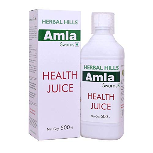 Herbal Hills Amla Swaras, Health Juice for Vitamin C, Immunity and Digestion 500 ml (Pack of 2)
