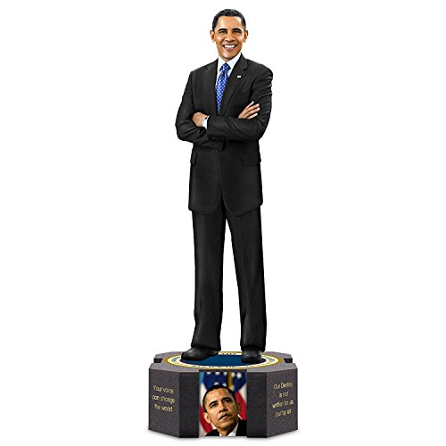 Keith Mallett President Barack Obama Farewell Sculpture With Quotes and Photos by The Hamilton Collection