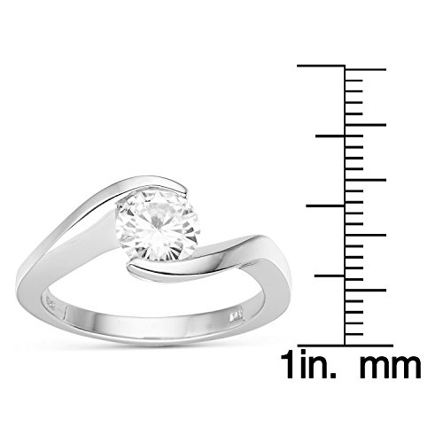 Forever Brilliant Round 6.5mm Moissanite Engagement Ring - size 7, 1.00ct DEW by Charles & Colvard