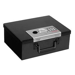 Honeywell 6108 Fire Resistant Digital Steel Security Box, 0.26 Cubic Feet