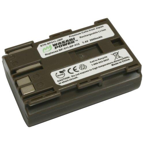 Wasabi Power Battery for Canon BP-511, BP-511A, BP-512, BP-514 and Canon EOS 5D, 10D, 20D, 20Da, 30D, 40D, 50D, 300D, D30, D60, Rebel, PowerShot G1, G2, G3, G5, G6, Pro 1, Pro 90, Pro 90 IS, FV10, FV100, FV2, FV20, FV200, FV30, FV300, FV40, FV400, FV50, FVM1, FVM10, Optura 10, Optura 100MC, Optura 20, Optura 200MC, Optura 50MC, Optura Pi, Optura Xi, PV130, ZR10, ZR20, ZR25, ZR25MC, ZR30, ZR30MC, ZR40, ZR45MC, ZR50MC, ZR60, ZR65MC, ZR70MC, ZR80, ZR85, ZR90 Bp 512 Compatible Battery