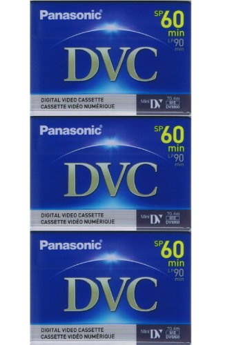 3 Mini DV MiniDV TAPE for Samsung SC-D353 D-353 Camcorder by Panasonic
