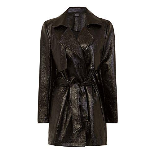 Girls On Film Womens/Ladies Vinyl Trench Coat (4) (Black)