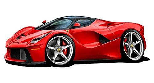 Amazon Com 2014 Le Ferrari Suparcar Cartoon Car Wall Decal 2ft Long