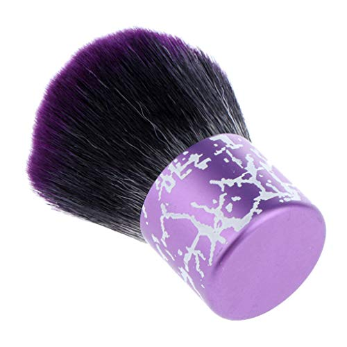 (Barber Clean Brush Hair Salon Hairdressing Neck Duster Dust Sweep Brushes (Color - Purple))