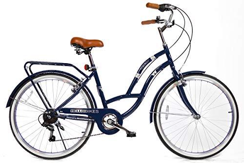 HelloBikes Florence - Bicicleta de Ciudad para Mujer con Cambio ...