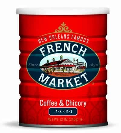 French Market - French Market Coffee & Chicory City Roast (Dark Roast) 12oz Can-2pack