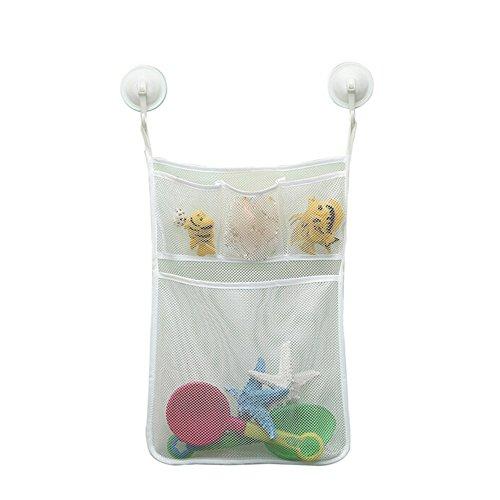 funnytoday36533x 45cm cuarto de baño/cocina de red de malla necesidades diarias tina de bebé juguete cestas de...