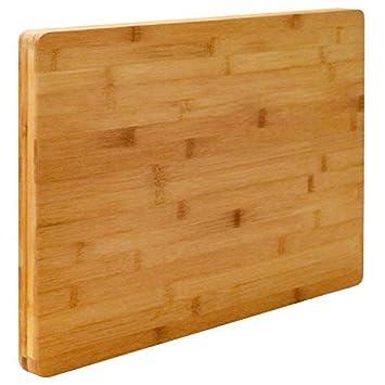 Holzbrett Küche | Eyepower 3cm Dickes Xl Schneidebrett 50x35cm Bambus Holz
