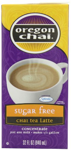 Oregon Vanilla Tea Chai - Oregon Chai Sugar Free Chai Tea Latte Concentrate, 32-Ounce Boxes (Pack of 6)