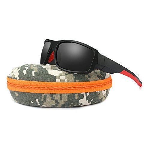 Polarized Black Sports Sunglasses for Men's Fishing Hunting Boating Sun Glasses