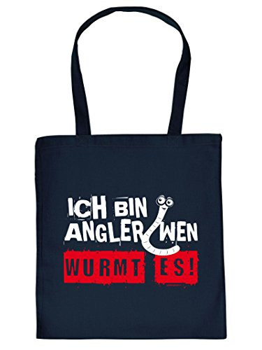 Tasche für Angler. Diese Henkeltasche mit Aufdruck: ICH BIN ANGLER ist eine tolle Geschenkidee.