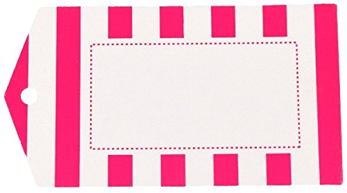 Striped Gift Tags (Just Artifacts 48pc Striped Pattern Pointed Hanging Gift Tags (Color: Fuchsia))