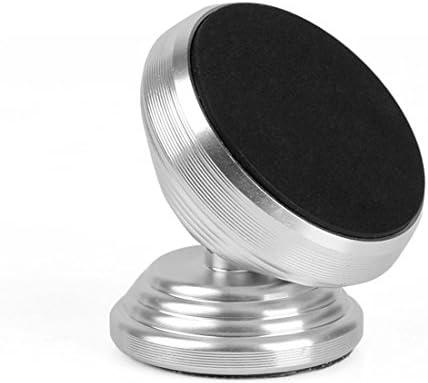 YIKETING 車の電話ホルダー磁気アウトレットナビゲーション携帯電話磁石アルミ合金車ホルダーマグネット電話マウント (色 : Silver)