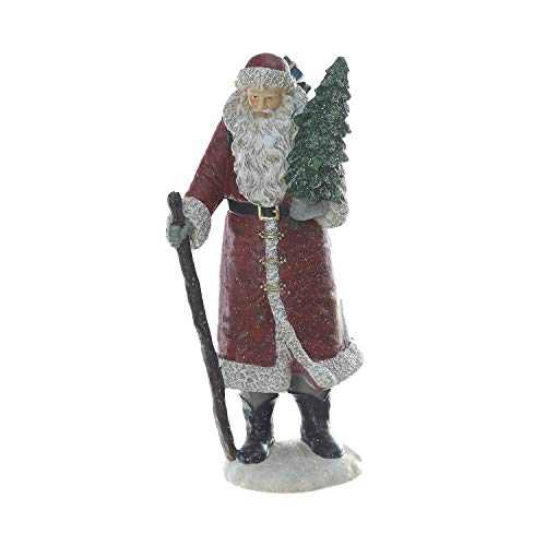 (Goose Creek Resin Santa Claus Statues Seasonal Ornament Figurine Polystone Collectible Doll for Home and Garden)