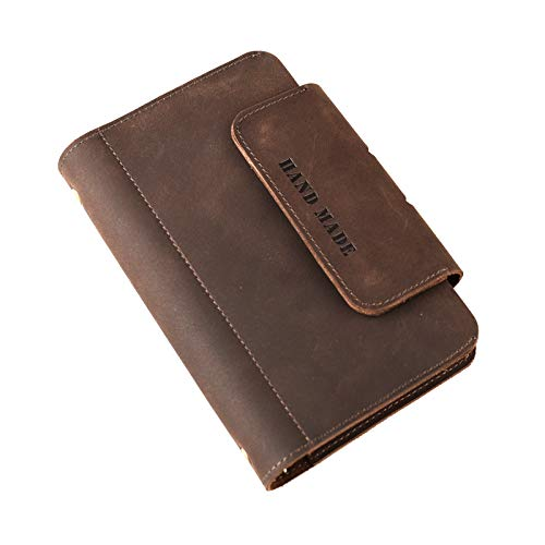 Personalized Leather Journal Notebook Genuine Handmade Customized Refillable Travel Daily Notepad Sketchbook,Vintage Card Phone Cover Gift for Men Women 7.4 x 4.8'' (A6-Personalized) by Z'arte (Image #8)