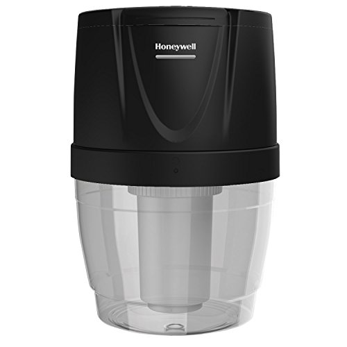(Honeywell HWB101B Filtration System for Water Dispensers, Reduces Chlorine and Particulates to help improve water taste, Avoid water bottles heavy lifting, spills and storage, Black)
