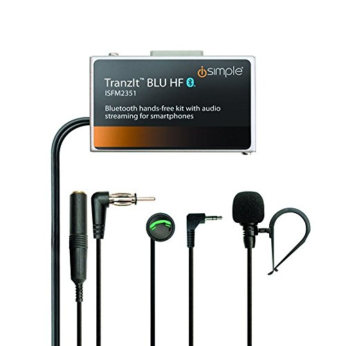 Price comparison product image iSimple Hands-Free Calling and Music Streaming Kit with Control Button for Smartphones - Frustration-Free Packaging - Black