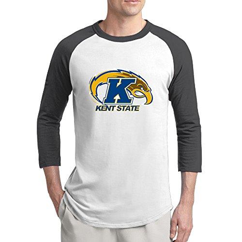 EVALY Men's Best 3/4-Sleeve Raglan T Shirts Kent State University Athletic Logo