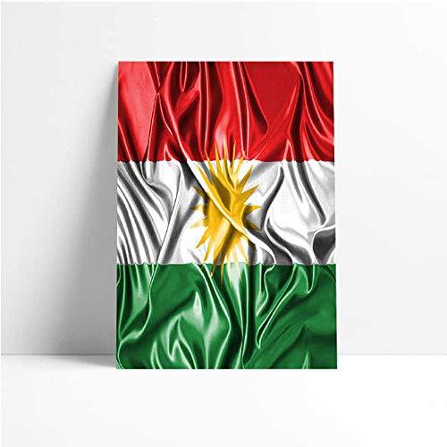 Quadro Decorativo - Kurdistan Kurd Kurds Kurdish Flag - Quadro 20x30