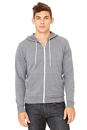 Zara Yoga Studio |LA| Unisex Poly-Cotton Fleece Full-Zip Hoodie (Medium /Deep Heather) (Santa Monica Juice compare prices)