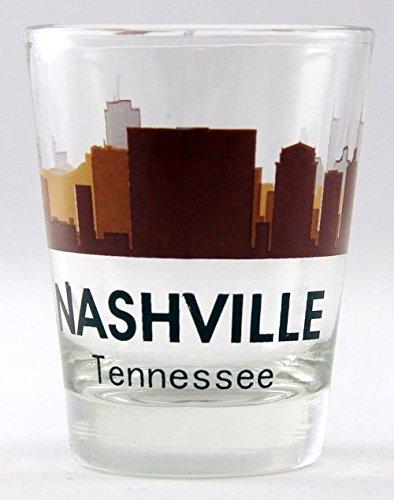 Nashville Tennessee Sunset Skyline Shot Glass