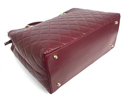 Alsace Vera Italy Trapuntata Mano In Superflybags Pelle Borsa modello Bordeaux A Made Donna In qSzXA