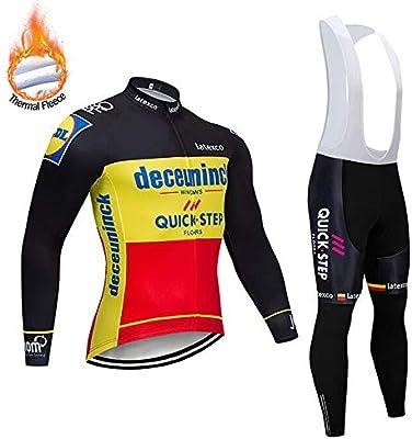 SUHINFE Traje Ciclismo Hombre para Invierno, Ciclismo Maillot ...