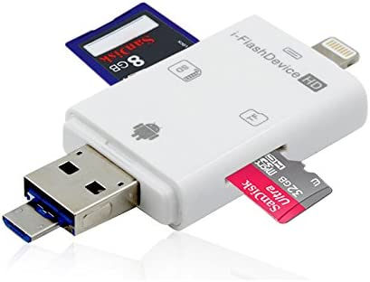 3 en 1 lector de tarjeta SD adaptador para iPhone/iPad/Mac/PC ...