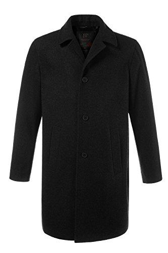 JP 1880 Men's Big & Tall Button Front Wool Blend Coat Black X-Large 705472 (Big Button Wool Coat)