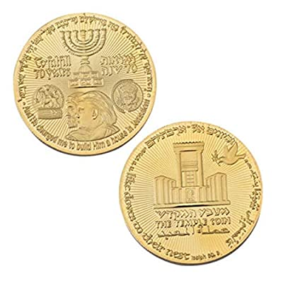 blinkee Trump Temple Jewish Jerusalem Gold Plated Coins: Toys & Games