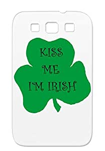 Kiss Me St. Patrick's Day Holidays Occasions Irish Clover Green Black For Sumsang Galaxy S3 Case