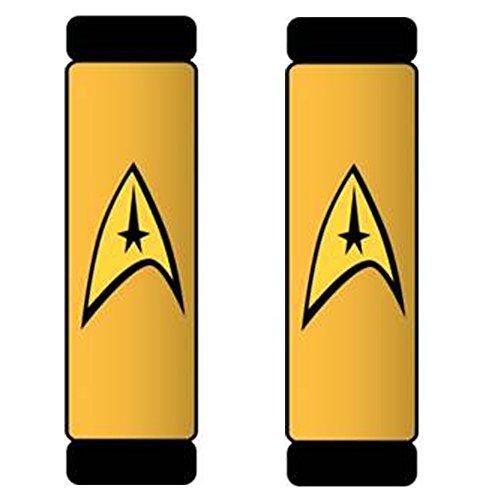 Star Trek Delta Command Logo Yellow Gold Car Truck SUV Seat Belt Shoulder Pads - PAIR ()