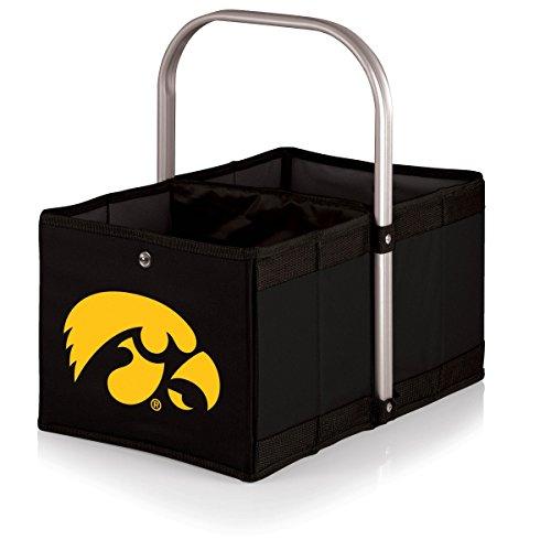 NCAA Iowa Hawkeyes Urban Basket with Digital Print, One Size, Black