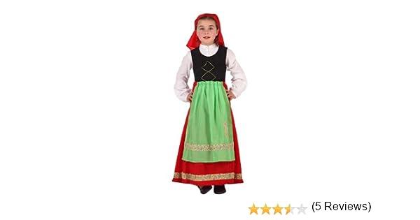 Atosa - Disfraz de folklore para niña, talla 3-4 años (8422259193050)