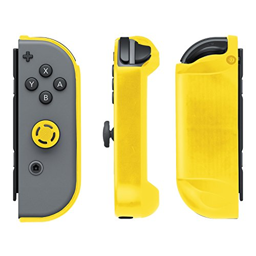 Nintendo Switch Comfort Grip Joy Con Armor Guards 2 Pack by PDP, Yellow & Black